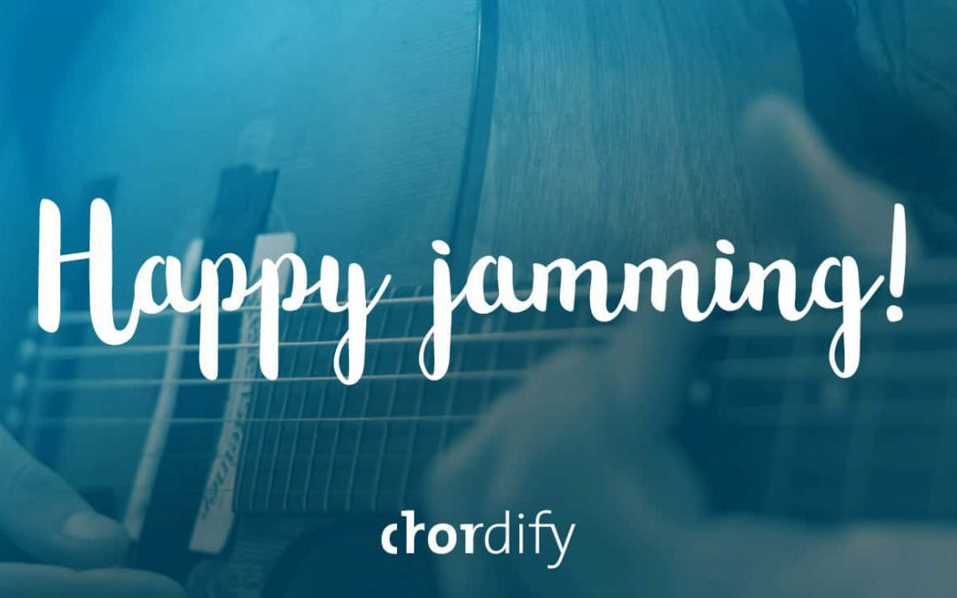 Happy Jamming over a guitarist