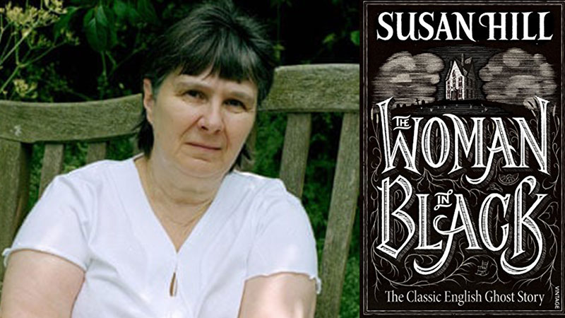 Susan Hill Photo with The Woman In Black book cover