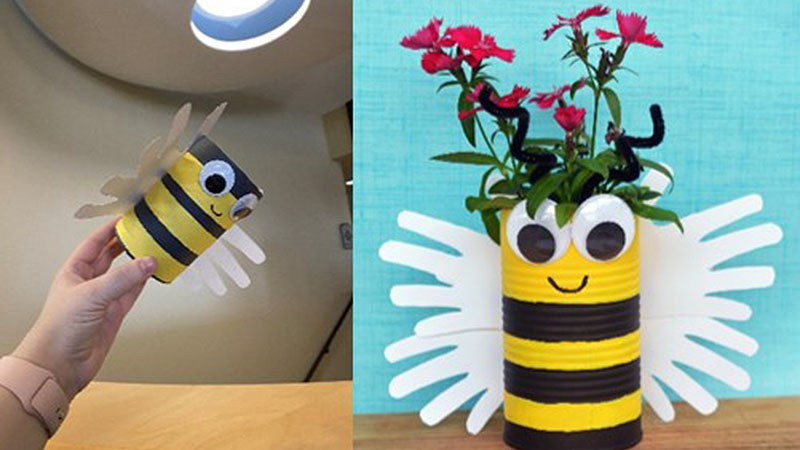 Miss Becca's To Go Craft: Spring Bee Flower Planter
